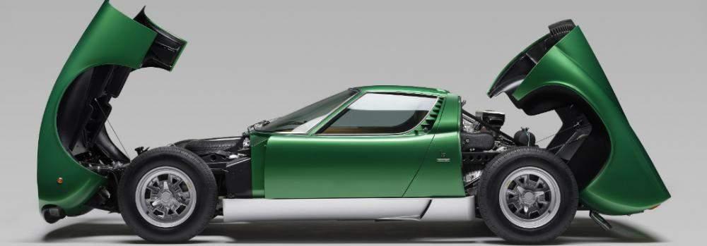 Lamborghini Miura opened up